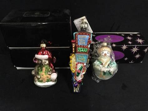 set of three christopher radko high end christmas ornaments