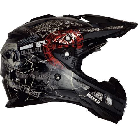 Enduro Motorradhelme by Motorradhelm Broken Road Pirate Black Edition Enduro
