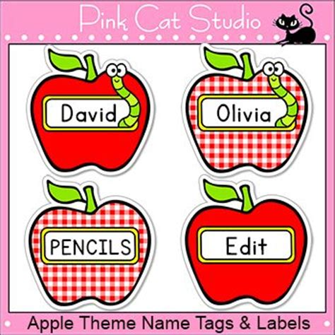 printable apple name tags 25 best ideas about cubby name tags on pinterest