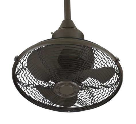 Caged Ceiling Fan by Fanimation Of110ob Extraordinaire 18 Quot Caged Ceiling Fan