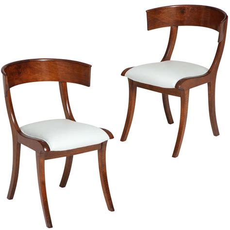 klismos chairs a pair of danish klismos chairs at 1stdibs