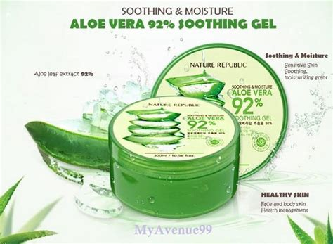 Nature Republic Aloe Vera Soothing Gel For Acne mall