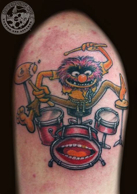 muppet tattoo animal from the muppet show done by rob sweet