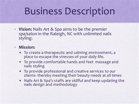 Spa Description by Start Up Business Planning In Us Nail Spa