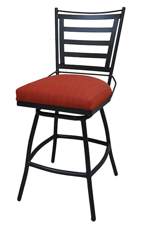34 Outdoor Bar Stools by 34 Inch Outdoor Swivel Bar Stool Cushion Backrest