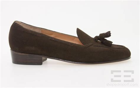 belgian slippers belgian shoes brown suede tassel loafers size 8 m ebay
