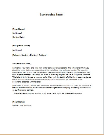 Sponsorship Letter Korean invitation letter for event sponsorship gallery