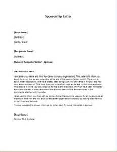 Sponsor Letter Writing Sponsorship Letter Templates For Ms Word Word Excel
