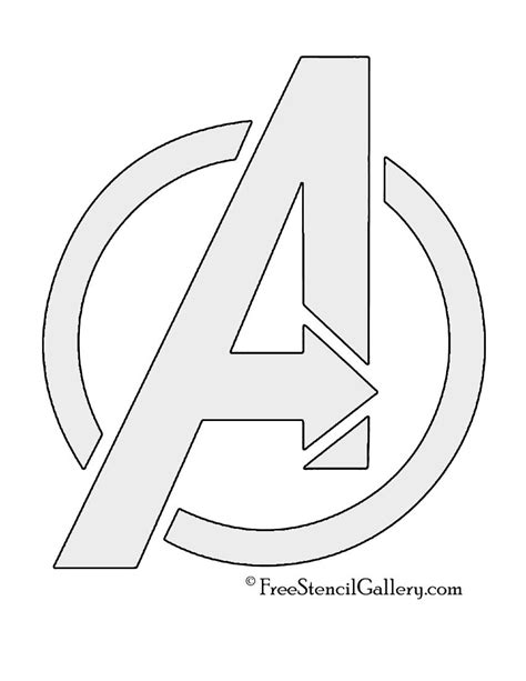avengers logo coloring page avengers logo stencil party pinterest stenciling