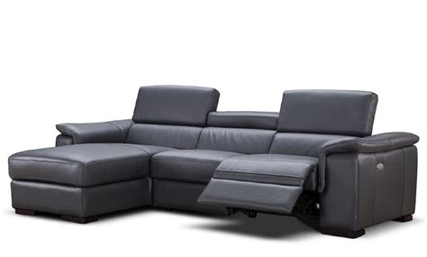 reclining sectional furniture alba premium leather power reclining sectional usa