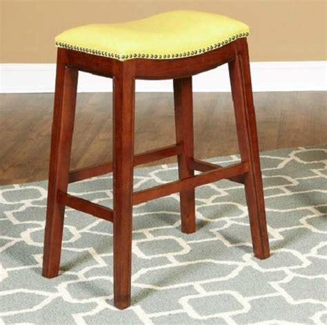Saddle Style Bar Stools by 24 Quot Faux Leather Nailhead Saddle Style Bar Counter Stools