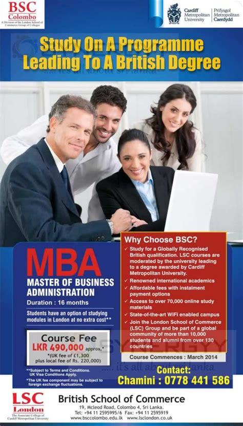 Colombo Mba 2018 by Bsc Colombo Mba Education Synergyy