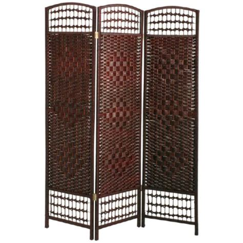 wicker room divider room dividers folding canvas furnitureinfashion uk