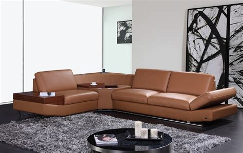 leather center sofa kn8464 contemporary brown leather sectional sofa with