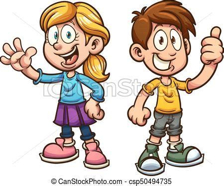 imagenes de niños alegres en caricatura ni 241 os caricatura lindo arte clip separado simple