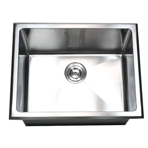 stainless steel drop in utility sink 23 inch undermount drop in stainless steel single bowl