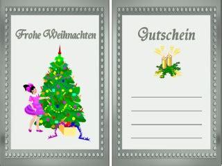 Kostenlose Vorlage Gutschein Weihnachten gutschein vorlage weihnachten a4