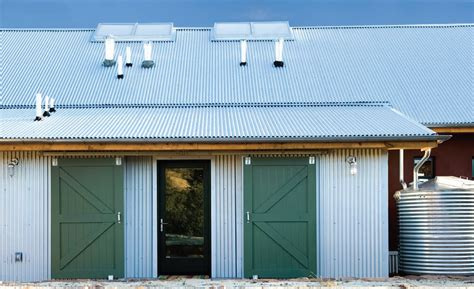 stylish corrugated iron home