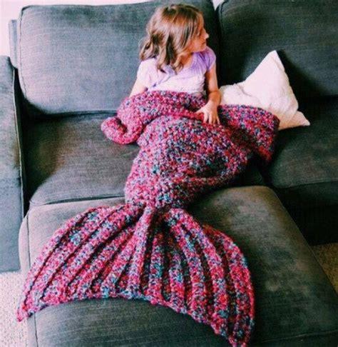 knitting pattern for mermaid blanket wool knitted mermaid tail blanket handmade children