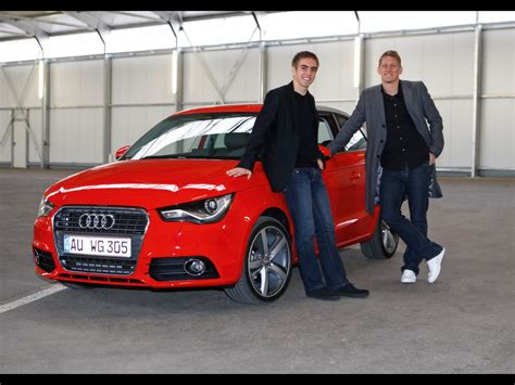 Schweinsteiger Auto by 2010 Audi A1 Bayern Football Players Philipp Lahm And