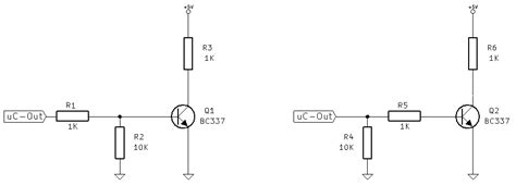 pull up resistor configurations pulldown which configuration is better for pulling an npn transistor s base electrical