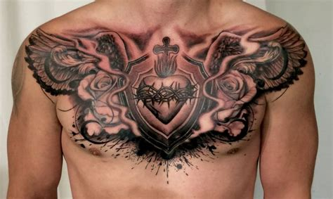 cross tattoos on chest for men chest tattoos for and chest tattoos