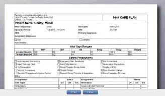 home health plan of care axxess help center