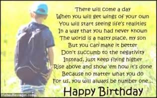 birthday quotes for teenage son quotesgram