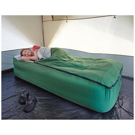 guide gear air bed fitted cover sleeping bag 133847 air beds at sportsman s guide