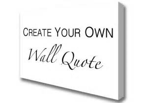 create your own 2 white word quotes canvas print wall