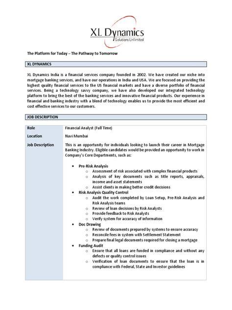 financial analyst job description federal government
