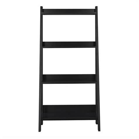 Ladder Shelf Bookcase Bush Alamosa 4 Shelf Ladder Black Bookcase Ebay