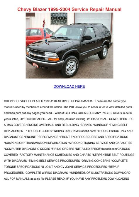 service manual pdf 1995 chevrolet monte carlo transmission service repair manuals downloads chevy blazer 1995 2004 service repair manual by feliciadailey issuu