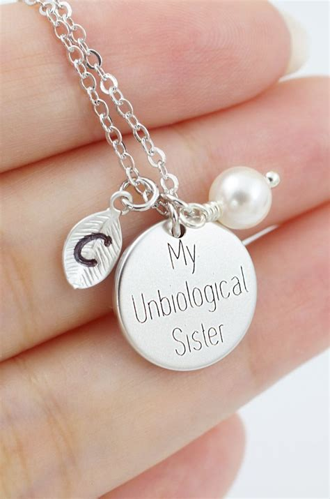 personalized double sided engraved necklace bff