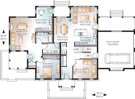 House Plans With In Suites In Suite On Floor 21765dr 1st Floor