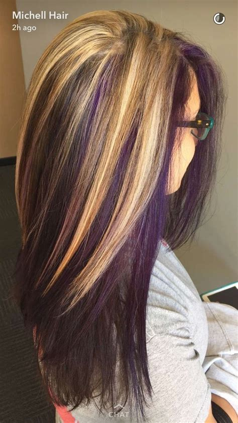 And Brown Hairstyles by Purple And Brown Hairstyles Fade Haircut