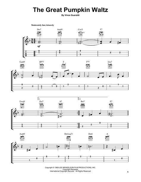 guitar tab the great pumpkin waltz video dailymotion the great pumpkin waltz by vince guaraldi ukulele