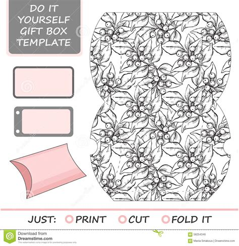 free die cut templates for boxes favor gift box die cut box template stock vector image