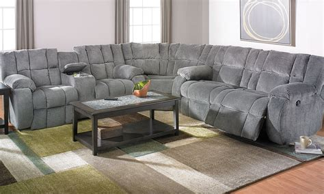 Furniture Sectional by Klaussner Dozer Reclining Storage Sectional Haynes Furniture