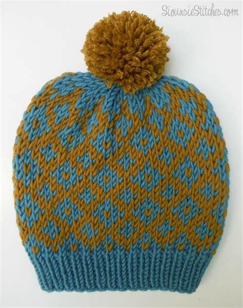free knitting pattern hat pinterest free knitting pattern diamond slouch hat from