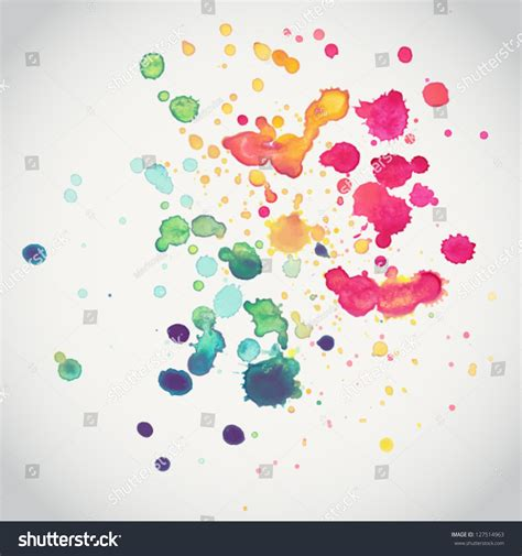 spray vector paint watercolor splash background colorful paint drops texture 127514963