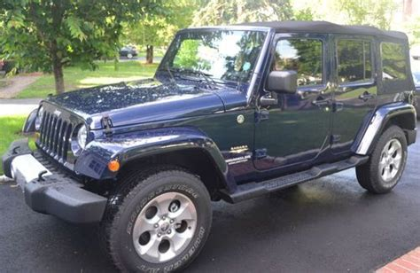 Navy Blue Jeep Wrangler Unlimited Sell Used 2013 Jeep Wrangler Unlimited Sport