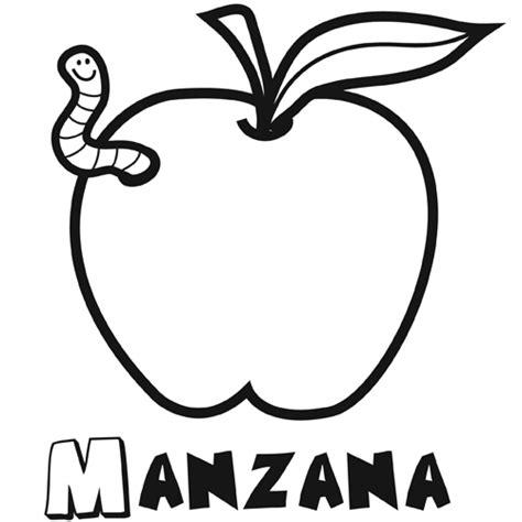 imagenes para colorear manzana manzana para colorear dibujos online