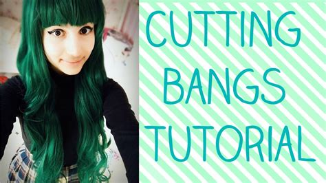 tutorial on cutting bangs cosplay wig styling tutorial cutting bangs youtube