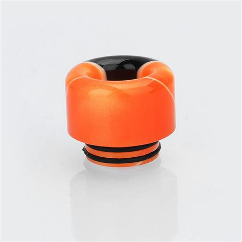 Acrylic 15mm 15mm black orange acrylic drip tip for tfv12 tfv8 tfv8
