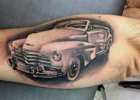 automotive tattoo 70 car tattoos for cool automotive design ideas