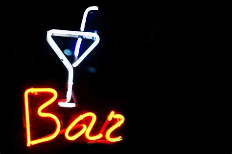 Neon Bar Lights by Bar Neon Sign Free Stock Photo Domain Pictures