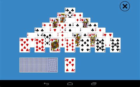 classic pyramid solitaire android apps on google play