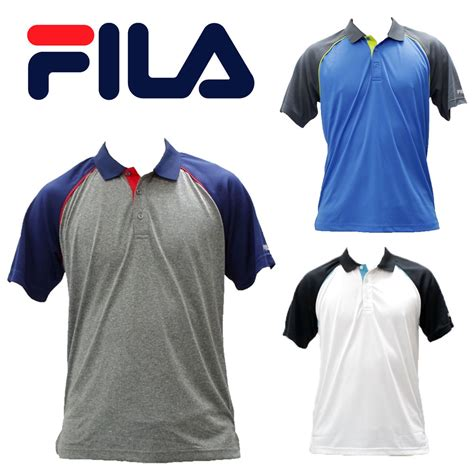 Polo Shirt Filla S M L Xl Hitam nwt fila 3 different colors of vintage polo shirts lm151jn2 size s to 2x ebay