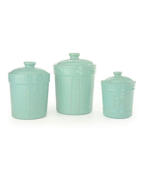signature housewares sorrento kitchen canisters 3 piece signature housewares aqua sorrento canister set